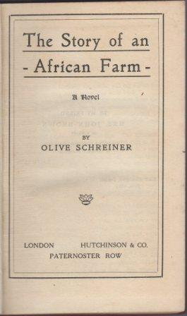 The Story Of An African Farm A Novel By Ralph Iron Olive