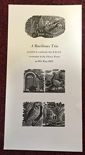 Poster 'A Ravilious Trio' Printed to Celebrate the ERAG Excursion to the Fleece Press on 9th May ...