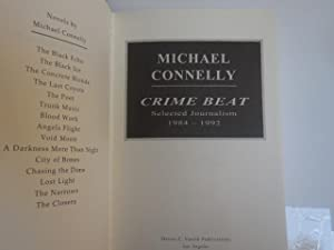 Crime Beat ( Signed, Limited, Number 149 of 150): Connelly, Michael