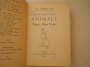 Great Historic animals: seton, ernest Thompson