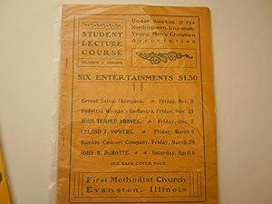 Student Lecture Course Program: Seton, Ernest Thompson