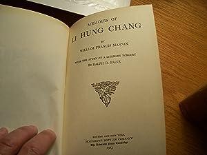 The Memoirs of LI HUNG CHANG: W. F. Mannix