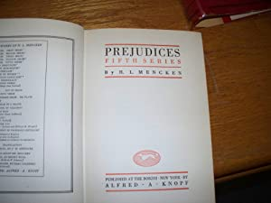 Prejudiches: Fifth Series: H.L Mencken