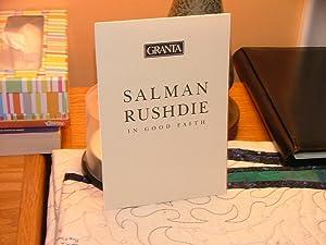 In Good Faith: Salman Rushdie