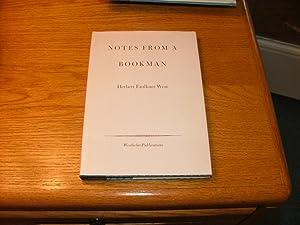 Notes from a Bookman: Herbert Faulkner West