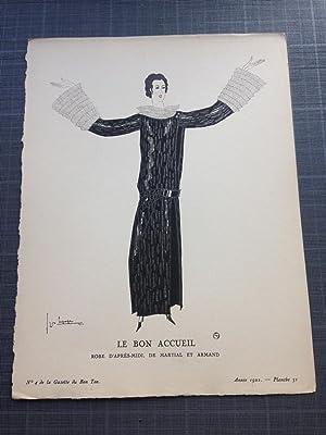 Le Bon Accueil. Robe D'après-midi, De Martial: Lepape Georges