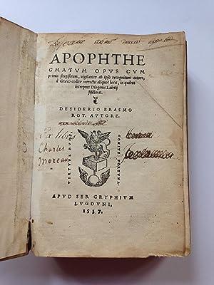 Erasmus Desiderius - AbeBooks