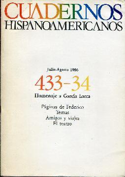 Cuadernos hispanoamericanos. Homenaje a García Lorca. 2 tomos. Tomo I, números 433-...
