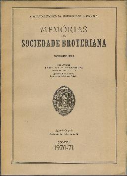 Memórias da Sociedade Broteriana. Volume XXI: Fernandes, A. Paiva,