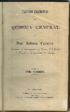 Tratado elemental de Química general. Obra completa: Casares, Antonio