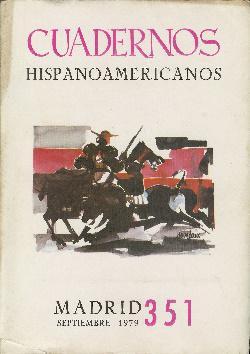 Cuadernos hispanoamericanos. Número 351. Septiembre 1979. Incluye: Varios: Guillén, Jorge.