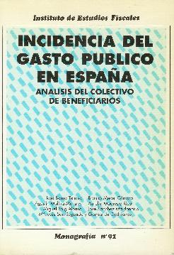 Incidencia del gasto público en España. Análisis: Varios. Barea Tejeiro,