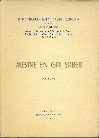 Mestre en gai saber. Poemes: Rubert Candau, Bernardí María