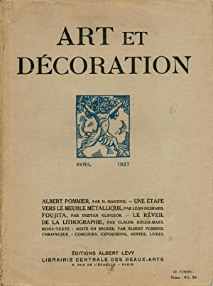 Art et Decoration avril 1927