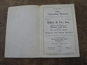 Data Concerning Platinum: Baker & Co., Inc.
