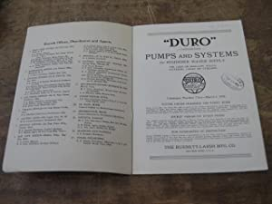 "Duro"" Guaranteed Pumps and Systems for Residence Water Supply for Deep or Shallow Wells, Cisterns, ..."