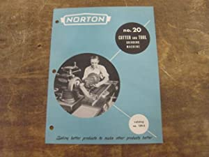 Norton No. 20 Cutter and Tool Grinding Machine, Catalog No. 189-3: Norton Company