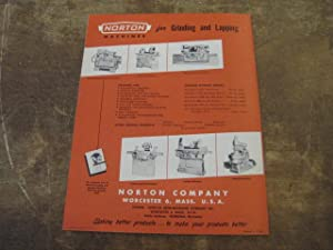 Norton No. 26 Hyprolap High Productions Lapping Machine Catalog 852-8. For Flat Work, For ...