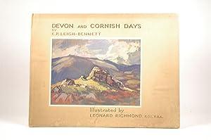 Devon and Cornish days: E.P. LEIGH-BENNETT