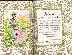 RUBAIYAT OF OMAR KHAYYAM, Translated into English: Khayyam, Omar (Untermeyer,