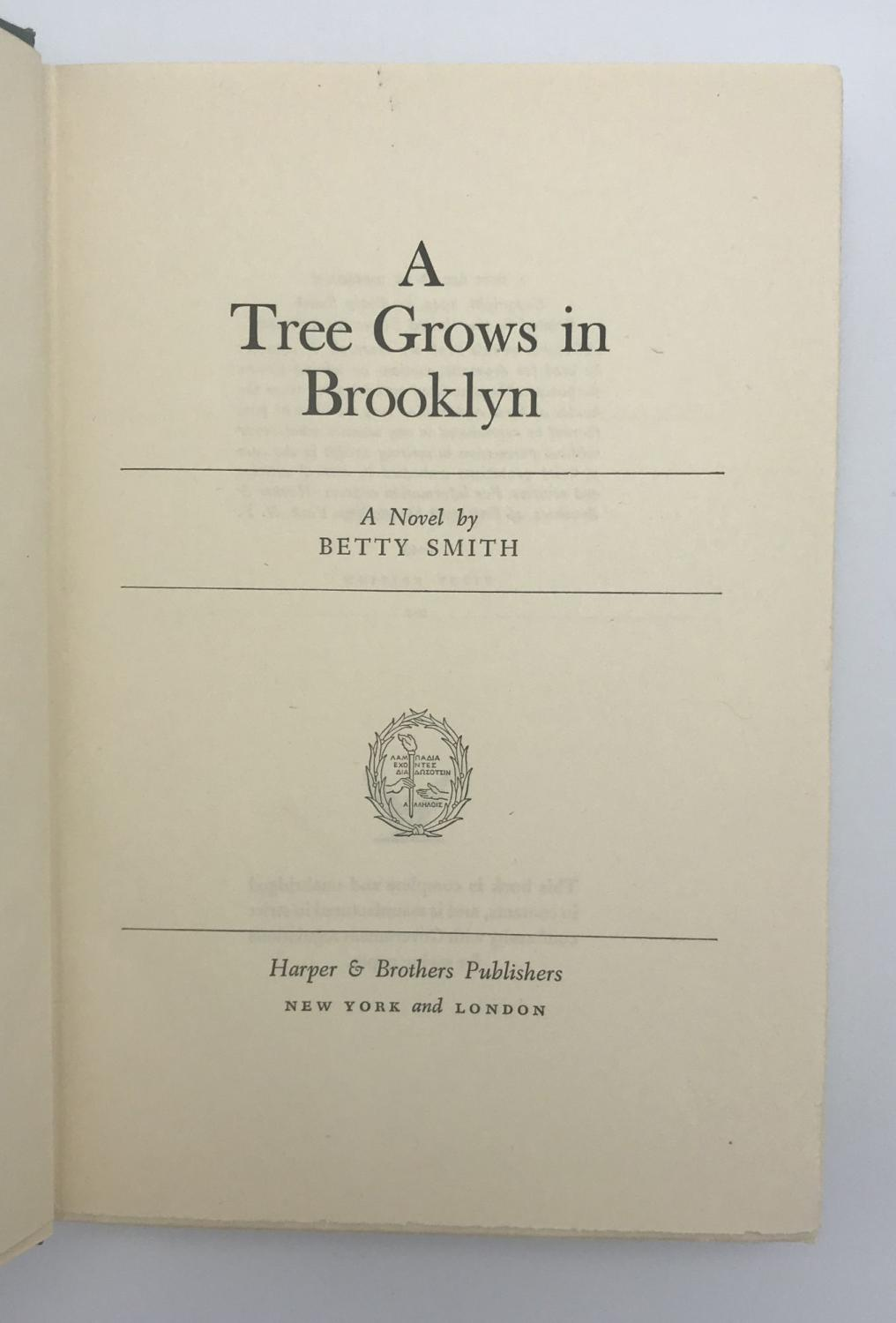 an account of a simple life in a tree grows in brooklyn by betsy smith Based on the novel by betty smith, this film relates the trials and tribulations of a turn-of-the-century brooklyn tenement family  a tree grows in brooklyn is a great kazan film putting.