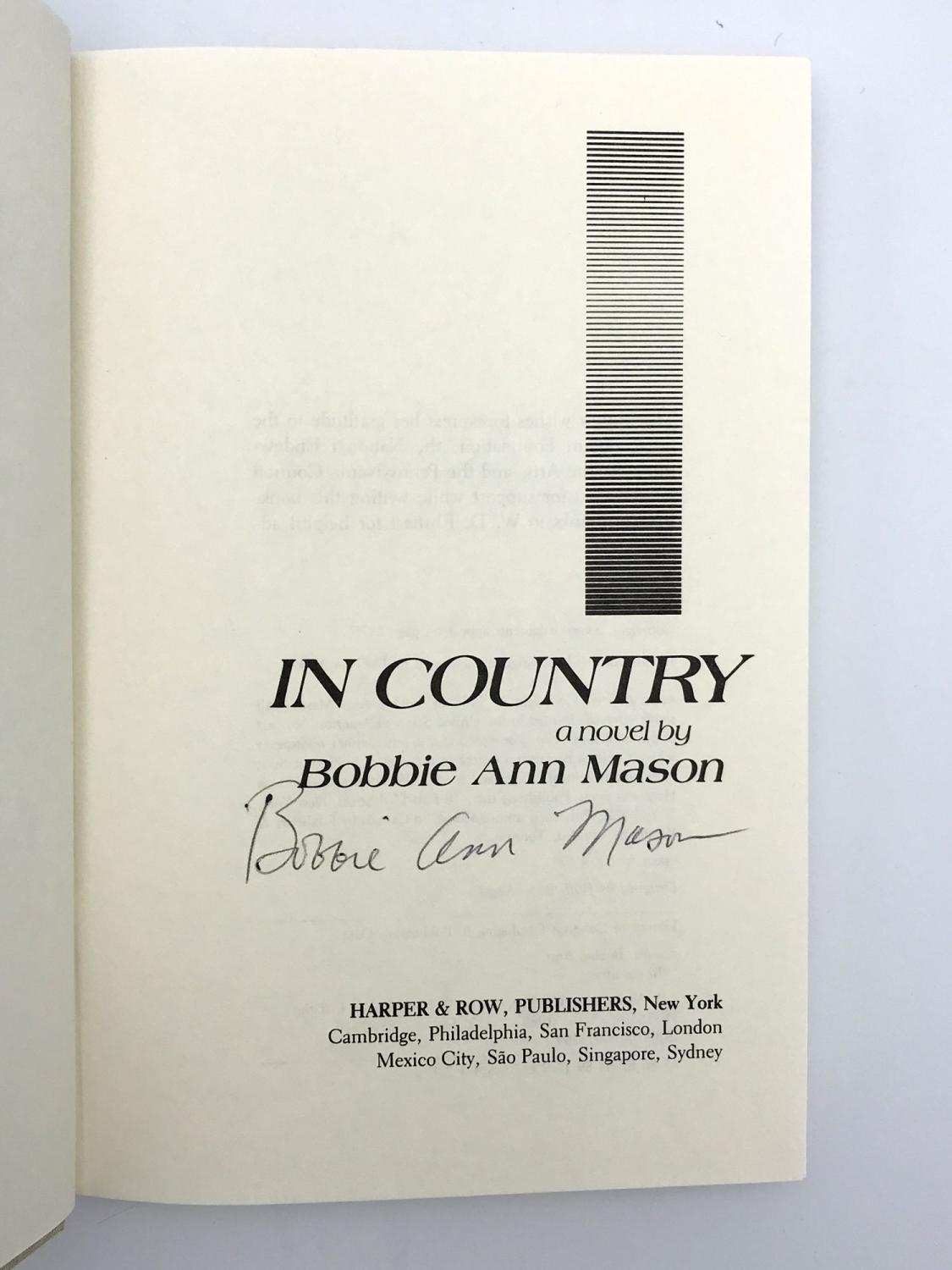 being country by bobbie ann mason