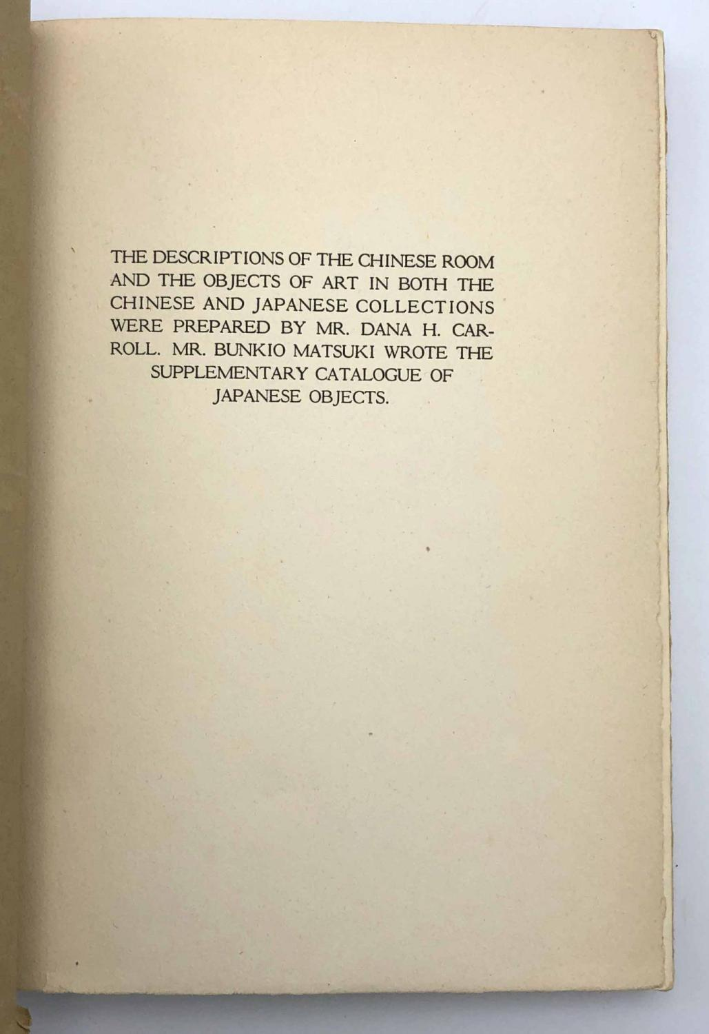 Catalogue of Chinese and Japanese Objects of