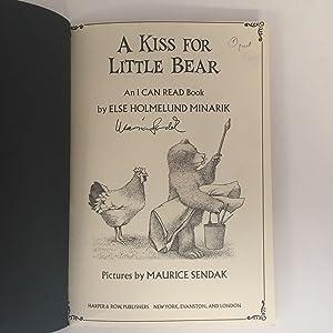 A Kiss For Little Bear: SENDAK, Maurice, illustrator -- MINARIK, Else Holmelund
