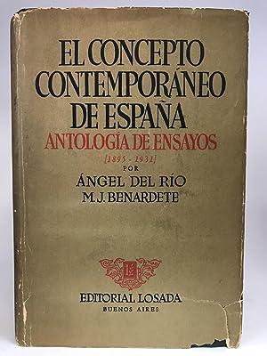 El Concepto Contemporáneo de España. Antología de: RÍO, Ángel del