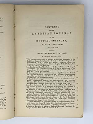 The American Journal of Medical Sciences.; New Series. Vol. LXXI. Edited by Isaac Hays: AMERICAN ...