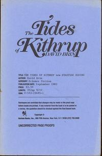 The Tides of Kithrup [Startide Rising]: Brin, David