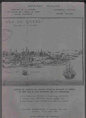 Conflits De Societes Au Canada Francais Pendant: Delmas, Jean &