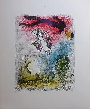 La poésie, lithographie originale de Marc CHAGALL: Georges Pompidou