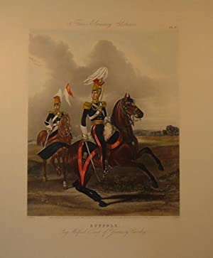 Suffolk, Long Melford Troop of Yeomanry Cavalry, Fores's Yeomanry Costumes pl. 3, (PRINT) .: ...