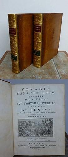 VOYAGES DANS LES ALPES, précédés d'un essai: DE SAUSSURES, Horace-Benedict.