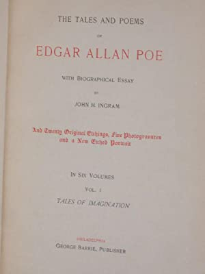 The Tales and Poems of Edgar Allan Poe: Poe, Edgar A.