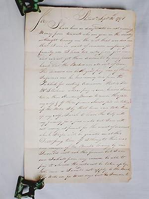 Letter rom John Hazelwood (1726--1800)