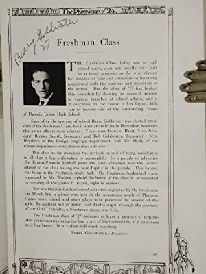 The Phoenician of 1924 (with Signed Photograph of Barry Goldwater, President of Freshman Class)