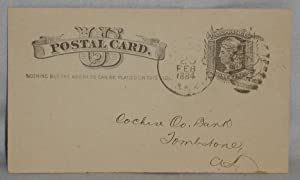 Post-Card] Large Transfer of Funds into B. (Barron) M. Jacob's First National Bank From the ...