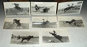 A Collection of Eight DeVere Live Rodeo Photo Postcards, Cheyenne, 1949: Helfrich, DeVere (1902-...