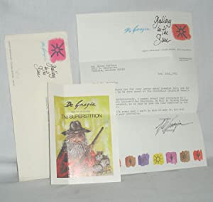 1tls, Typed Letter Signed By Author Regarding His time in the Superstitions: De Grazia, Ettore