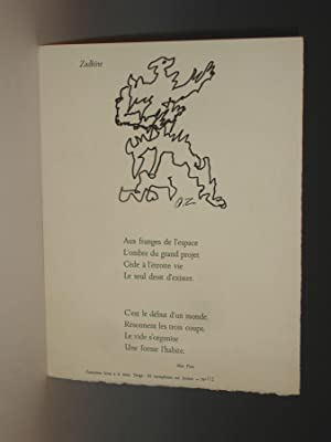 Zadkine (limited Letterpress Broadside, No. 2 of 25): Pons, Max