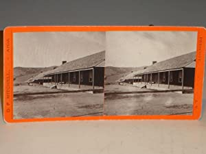 Arizona Territory, Fort Whipple) Stereographic Card, Company Quarters, Circa 1877 and 1885 ...