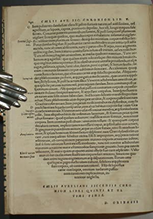 Caelii Aureliani Siccensis Tardarum Passionum Libri V.: Aurelianus, Caelius