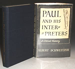 Paul and his Interpreters: A Critical Reprint