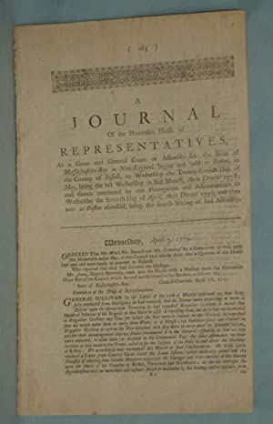 A Journal of the Honorable House of Representatives of the State of Massachusetts-Bay: ...