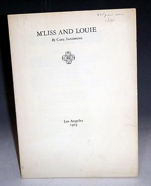 M'liss and Louise: Sandburg, Carl