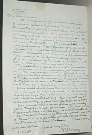 1ALS, Letter Regarding Ophthalmoscope: Harley, H.L.