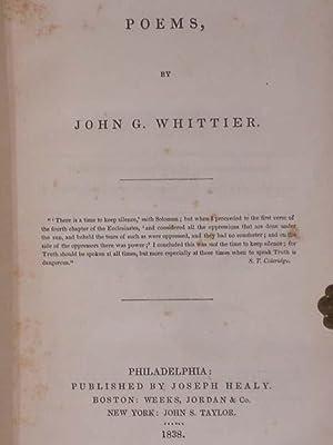 POEMS: Whittier, John G.