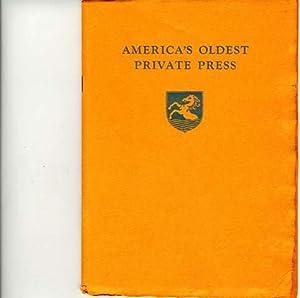 AMERICA'S OLDEST PRIVATE PRESS: Thomajan, P. K.